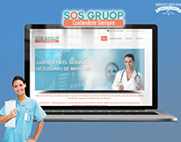 SOS GROUP   DISEÑO WEB   LOGOTIPO