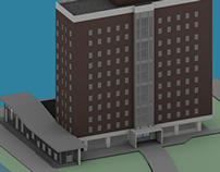 3D Design of Kelly Hall at Drexel University