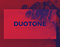 DUOTONE - FREE MINIMAL POWERPOINT & KEYNOTE TEMPLATE