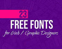 23 Latest Free Fonts Useful for Web / Graphic Designers