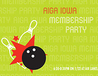 AIGA Iowa Membership Party Postcard