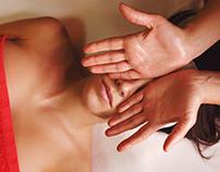Spa treatment. Face massage