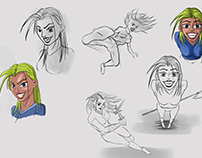 random sketch of random girl