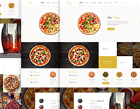 Pizza   food UI / UX & Web Design