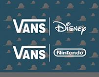 VANS x Disney/Nintendo | Co-Branding Ads Concept