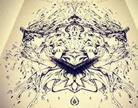 Mirror Ink Pen Art 2015
