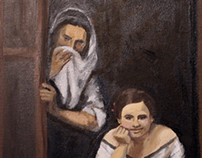 Master Copy Bartolome Murillo Two Women at a Window
