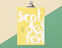 Scotland Design Festival Folded Booklet