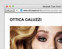 Ottica Galuzzi, website