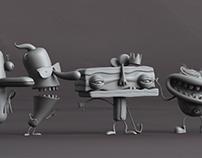 Modelado 3D, Productora Leyenda. 2011-2013. Parte 01