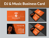 DJ & Music Business Card