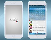 "Mobile App Design ""Memodater"""