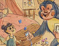 A Girl's Imaginary Monster: Illustration