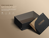 Free Shoe Box Mockup Set
