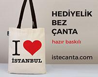 Hazır Baskılı Hediyelik Bez Çanta - Printed Tote Bags