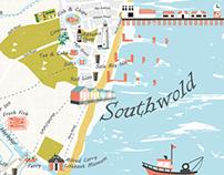 Illustrated Map of Southwold & Walberswick