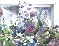 The flowers on the window