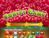 """2D Game Art for mobile game - """"Fruits Game"""""""