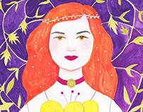 Romanian Beauty Coloring Book
