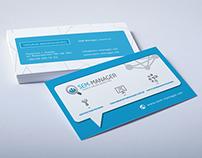 business card design SEM manager