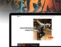 Skateboard Landing Page