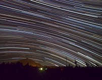 Summer Constellations Star Trails