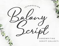 Balony Script Font