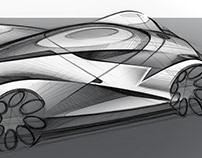 Exterior Design: Le Mans Prototype Sketch