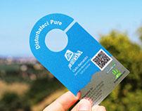 Door hanger frosted businesscards on bce-online.com