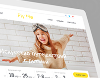 "Responsive Website Design for Tour Portal ""Fly Me"""