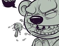 Ilustration Bear Squad - Sick