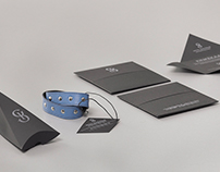 "Leather accessory brand ""KS"" identity"
