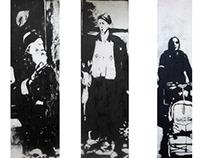 Jews in Warsaw ghetto 1941 r. wwII cardboard print