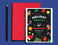Layout Design: Holiday Invitation