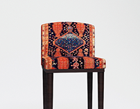 Carpet bar stool