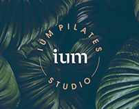 ium pilates studio visual identity