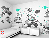 monkey planet :: children's wall decals