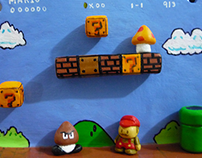 Super Mario Bros wall ornament
