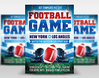 Free PSD Flyer Template - Football Game