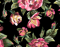 Roses print for Lime