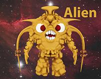 Alien 3D character