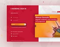 Dashboard designed in VeriPark for Ithmaar Bank.
