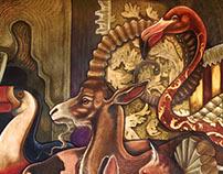 """Mural Artístico """"Marcha Triunfal"""". Fragmento de cuento"""