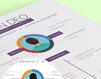 Free 2 In 1 Resume Template with Infographic Style