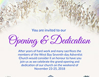 Invitation For Church Opening - WBSDA