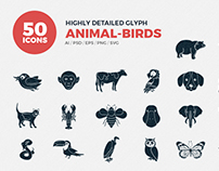 JI-Glyph Animals Icons Set