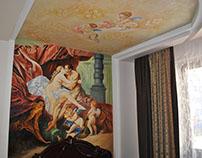 bedroom art paintings. mural