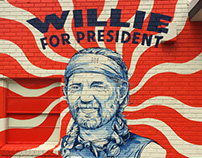 WILLIE FOR PRESIDENT MURAL | SXSW | STAG Provisions