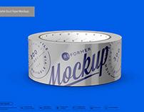Matte Metallic Duct Tape Mockup