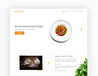 Eat & Treat Indian Restaurant Landing Page Design v2